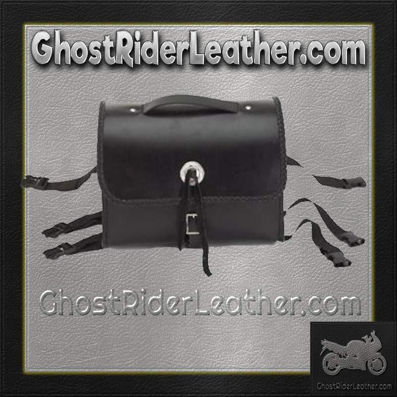 Motorcycle Leather Sissy Bar Bag with Braid / SKU GRL-SB5007-DL-sissy bar bag-Ghost Rider Leather