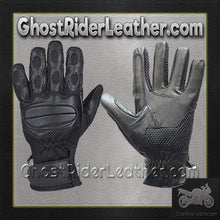 Motorcycle Riding Gloves With Gel Palms - Unisex - SKU GRL-GL2096-DL - Ghost Rider Leather