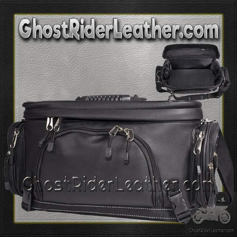 Motorcycle Sissy Bar Bag / SKU GRL-SB13-DL - Ghost Rider Leather