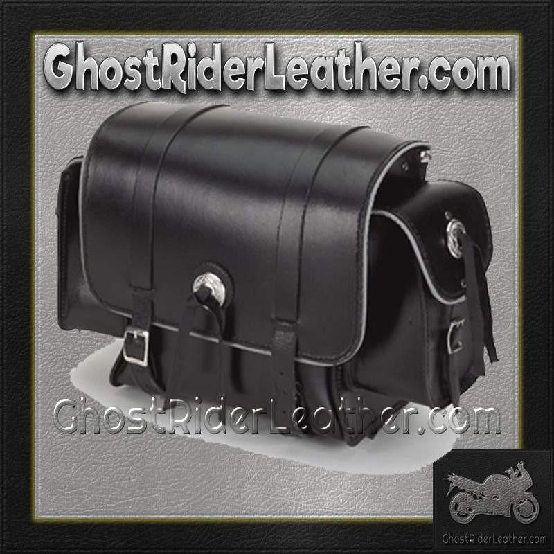 Motorcycle Sissy Bar Bag with Light Reflector  / SKU GRL-SB78-DL - Ghost Rider Leather
