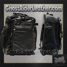 Motorcycle Sissy Bar Bag with Wheels / SKU GRL-SB6001-DL - Ghost Rider Leather