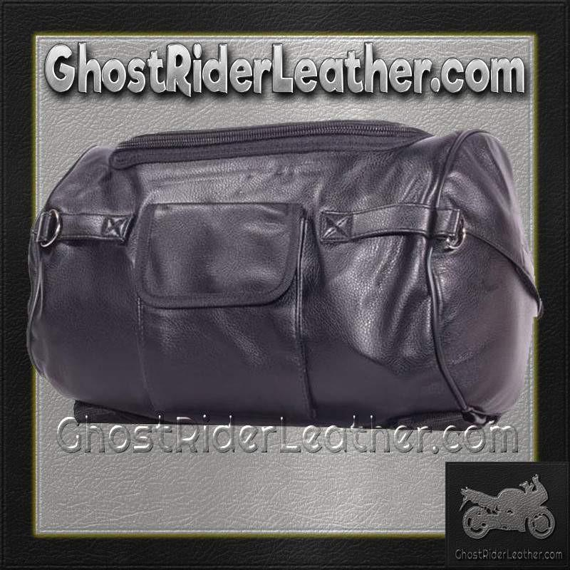 Motorcycle Sissy Bar Duffle Bag  / SKU GRL-SB74-DL - Ghost Rider Leather