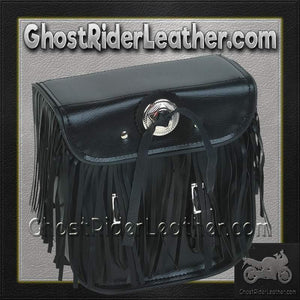 Motorcycle Sissybar Bag with Fringe / SKU GRL-SB5004-DL-sissybar bag-Ghost Rider Leather