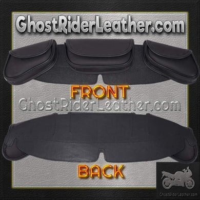 Motorcycle Windshield Bag Set with 3 Compartments / SKU GRL-WS24-DL - Ghost Rider Leather