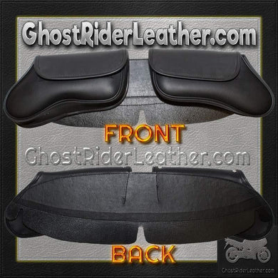 Motorcycle Windshield Bag with 2 Compartments / SKU GRL-WS28-DL - Ghost Rider Leather
