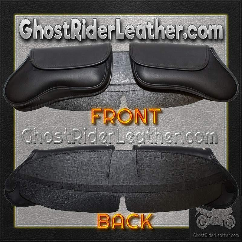Motorcycle Windshield Bag with 2 Compartments / SKU GRL-WS28-DL-windshield bag-Ghost Rider Leather