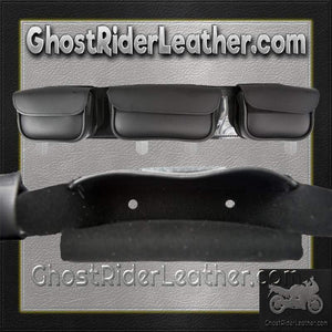 Motorcycle Windshield Bag with 3 Compartments / SKU GRL-WS25-DL - Ghost Rider Leather