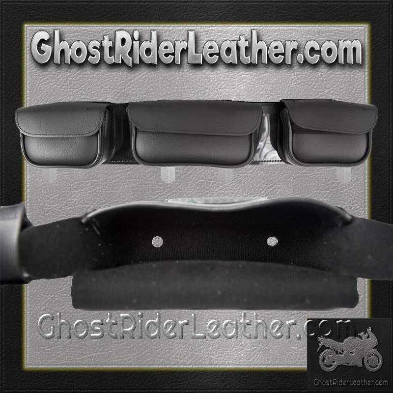 Motorcycle Windshield Bag with 3 Compartments / SKU GRL-WS25-DL-windshield bag-Ghost Rider Leather