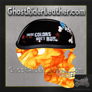 Novelty Patriot Skull Motorcycle Helmet - SKU GRL-6002P-DH - Ghost Rider Leather