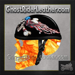 Novelty Patriot Skull Motorcycle Helmet / SKU GRL-6002P-DH-motorcycle helmet-Ghost Rider Leather