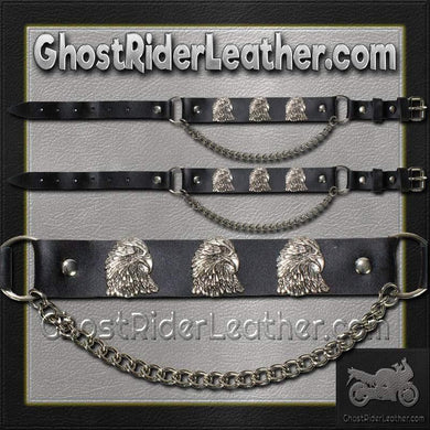 Pair of Biker Boot Chains - Eagle - SKU GRL-BC12-DL-biker boot chains-Ghost Rider Leather