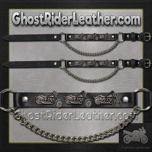 Pair of Biker Boot Chains - Motorcycle - SKU GRL-BC18-DL - Ghost Rider Leather