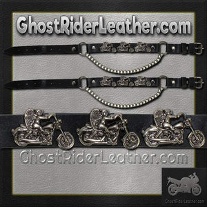 Pair of Biker Boot Chains - Motorcycle Angel - SKU GRL-BC1-DL - Ghost Rider Leather