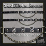 Pair of Biker Boot Chains - POW MIA - SKU GRL-BC11-DL-biker boot chains-Ghost Rider Leather