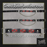Pair of Biker Boot Chains - Rebel Flag - SKU GRL-BC5-DL-boot chains-Ghost Rider Leather