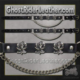 Pair of Biker Boot Chains - Rose - SKU GRL-BC7-DL-biker boot chains-Ghost Rider Leather