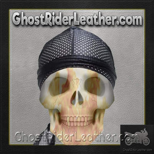 Perforated Doo-Rag / SKU USA-AC8-DL-perforated doo-rag-Ghost Rider Leather