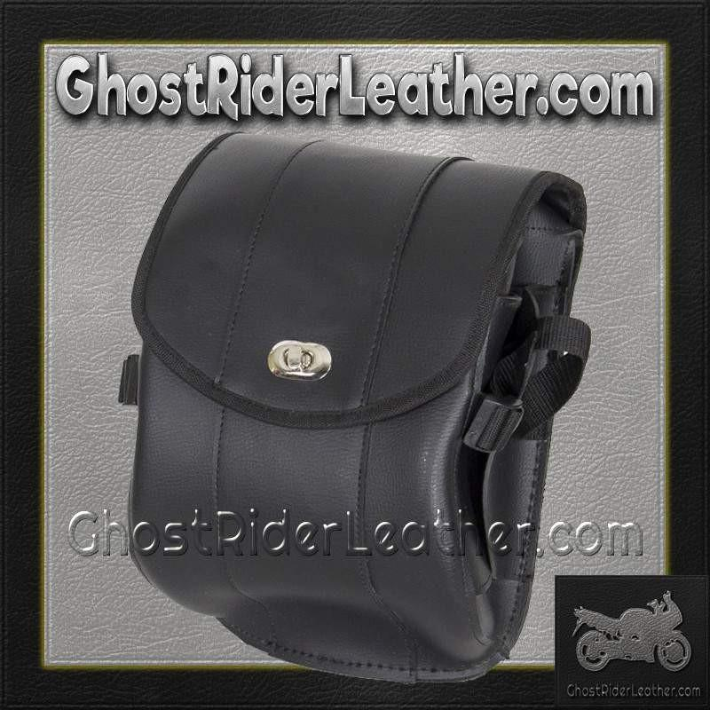 Plain PVC Motorcycle Sissy Bar Bag with Gun Holster/ SKU GRL-SB86-DL-sissy bar bag-Ghost Rider Leather
