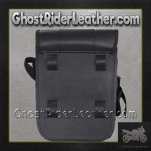 Plain PVC Motorcycle Sissy Bar Bag with Gun Holster/ SKU GRL-SB86-DL - Ghost Rider Leather