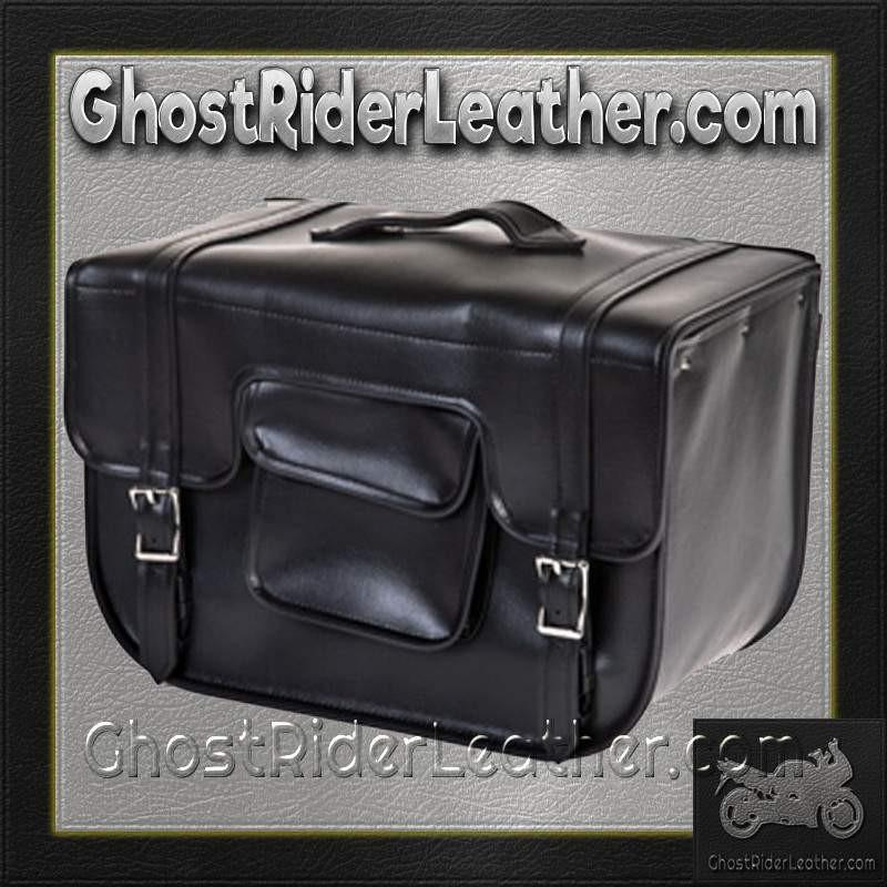 PVC Carry On Motorcycle Single Saddlebag / SKU GRL-SD12-PV-DL - Ghost Rider Leather