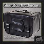 PVC Carry On Motorcycle Single Saddlebag / SKU GRL-SD12-PV-DL-saddlebags-Ghost Rider Leather