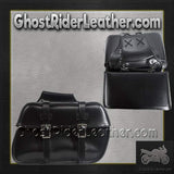 PVC Motorcycle Saddlebags / SKU GRL-SD4079-PV-DL-saddlebags-Ghost Rider Leather