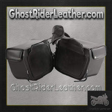 PVC Motorcycle Saddlebags Single Buckle Design / SKU GRL-SD1483-PV-DL - Ghost Rider Leather