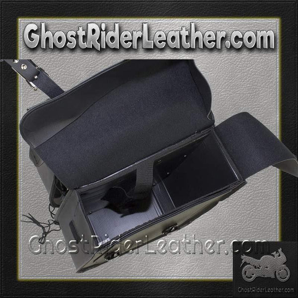 PVC Motorcycle Saddlebags With Gun Pockets / SKU GRL-SD4090-NS-PV-DL-saddlebags-Ghost Rider Leather
