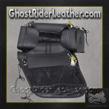 PVC Motorcycle Saddlebags With Gun Pockets / SKU GRL-SD4090-NS-PV-DL - Ghost Rider Leather