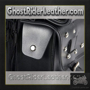 PVC Motorcycle Saddlebags With Studs and Eagle / SKU GRL-SD4071-PV-DL-saddlebags-Ghost Rider Leather