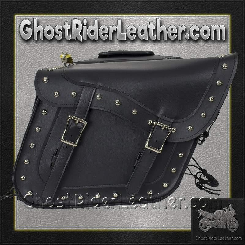 PVC Motorcycle Saddlebags With Studs and Gun Pockets / SKU GRL-SD4090-PV-DL-saddlebags-Ghost Rider Leather