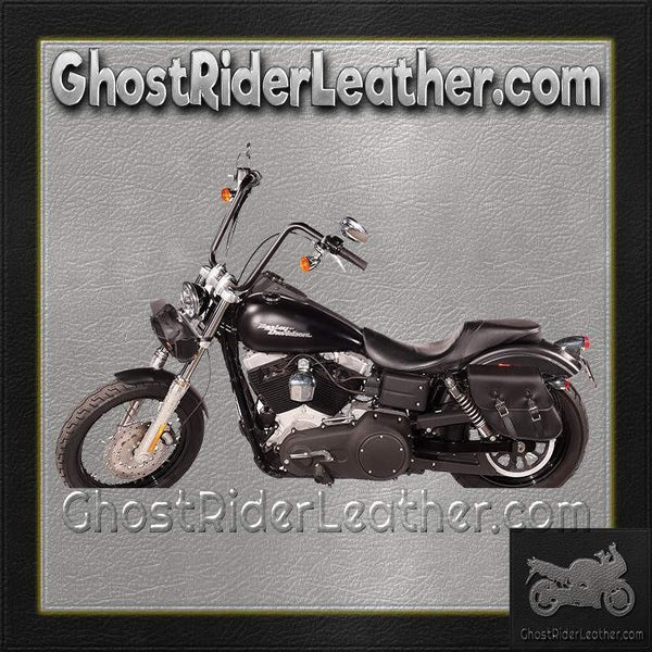 PVC Motorcycle Solo Swing Arm Bag / SKU GRL-SD4097-SOLO-DL-saddlebags-Ghost Rider Leather