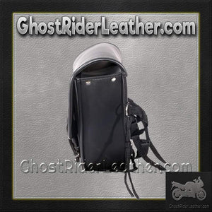 PVC Motorcycle Solo Swing Arm Bag / SKU GRL-SD4097-SOLO-DL - Ghost Rider Leather