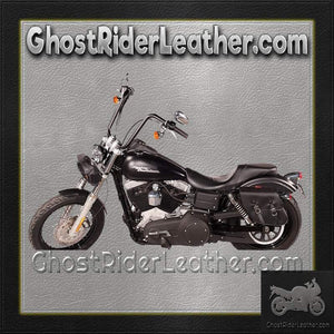 PVC Motorcycle Solo Swing Arm Bag with Studs / SKU GRL-SD4093-STUD-SOLO-DL-saddlebags-Ghost Rider Leather