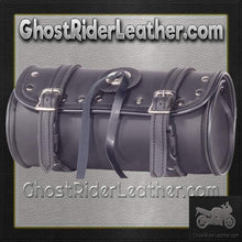 PVC Motorcycle Tool Bag - Fork Bag Studs 10 or 12 Inch / SKU GRL-TB3004-DL-tool bag-Ghost Rider Leather