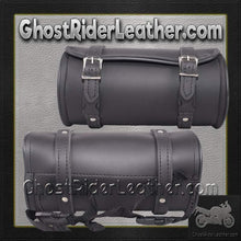 Round 10 Inch OR 12 Inch Motorcycle Tool Fork Bag / SKU GRL-TB3007-10-DL-tool bag-Ghost Rider Leather