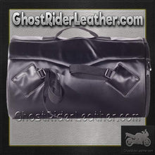 Round Motorcycle Sissy Bar Duffle Bag / SKU GRL-SB4-DL-sissy bar bag-Ghost Rider Leather