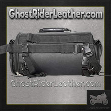 Round Motorcycle Sissy Bar Duffle Bag with Studs / SKU GRL-SB77-DL-sissy bar bag-Ghost Rider Leather