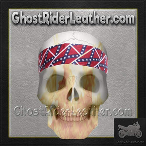 Set of Two Rebel Flag Biker Headbands / SKU GRL-AC9-REBEL-DL - Ghost Rider Leather