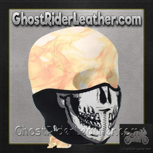 Skull Neoprene Half Face Mask / SKU GRL-FMF08-WNFM002H-HI - Ghost Rider Leather