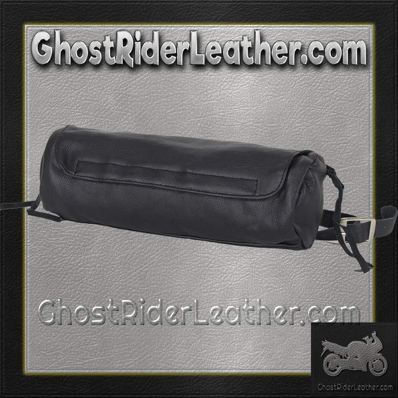 Soft PVC Motorcycle Tool Bag - Fork Bag with Zipper Pocket / SKU GRL-TB3021-DL - Ghost Rider Leather