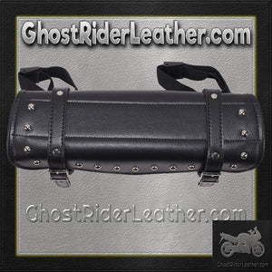 Studded PVC Motorcycle Tool Bag - Fork Bag 10 or 12 Inch / SKU GRL-TB3033-DL - Ghost Rider Leather