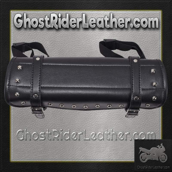 Studded PVC Motorcycle Tool Bag - Fork Bag 10 or 12 Inch / SKU GRL-TB3033-DL-tool bag-Ghost Rider Leather