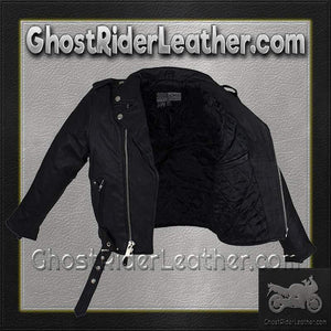 Teens Leather Motorcycle Biker Jacket / SKU GRL-KD342-TEEN-DL-teens leather jacket-Ghost Rider Leather