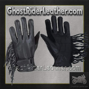 Womens Leather Gloves with Fringe / SKU GRL-GL2082-DL-ladies leather gloves-Ghost Rider Leather