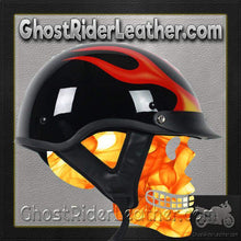 DOT Flame Motorcycle Shorty Helmet / SKU GRL-1F-HI-dot motorcycle helmet-Ghost Rider Leather