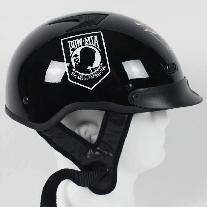 DOT POW MIA Motorcycle Helmet / Never Forget / SKU GRL-1VPOW-HI-dot motorcycle helmet-Ghost Rider Leather