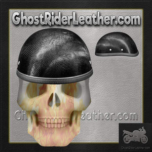 Real Carbon Fiber Eagle Style Novelty Motorcycle Helmet / SKU GRL-2002G-DH - Ghost Rider Leather