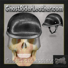 Real Carbon Fiber Jockey Polo Style Novelty Motorcycle Helmet / SKU GRL-2003G-DH - Ghost Rider Leather