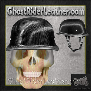 Real Carbon Fiber German Style Novelty Motorcycle Helmet / SKU GRL-2004G-DH - Ghost Rider Leather